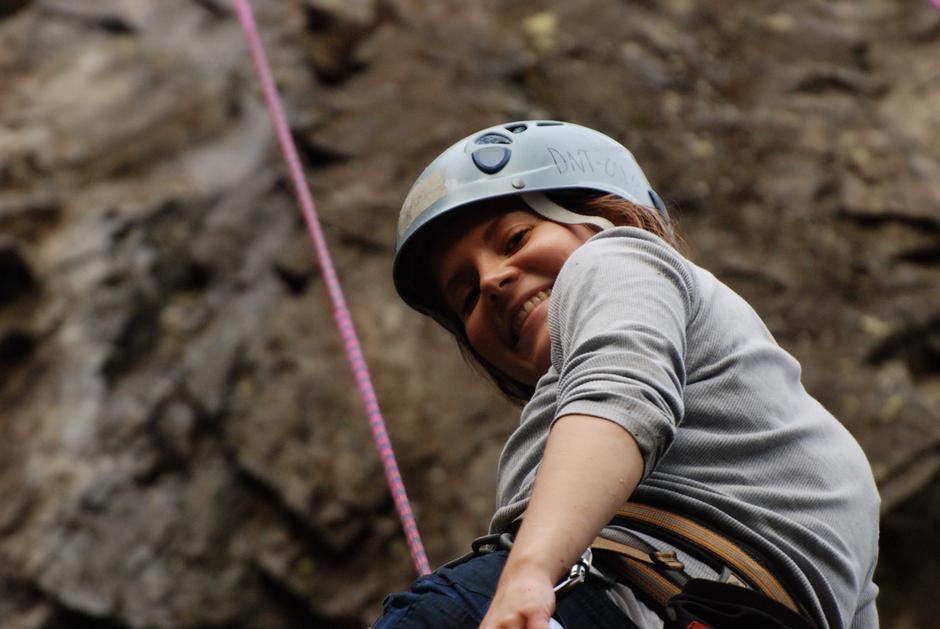 Nybegynnerkurs klatring. Foto: Åsgeir Almås