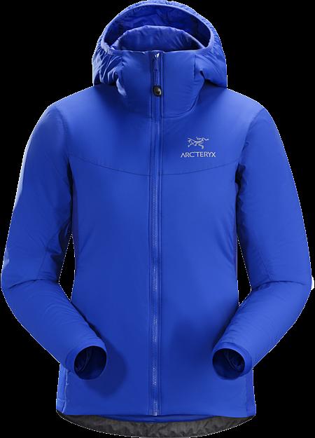 Atom LT jakke: Isolert mellomlagsjakke med vind- og fuktighetsavvisende ytterstoff. Ideell for bruk i lag-på-lag-system under aktiviteter i kaldt vær.
