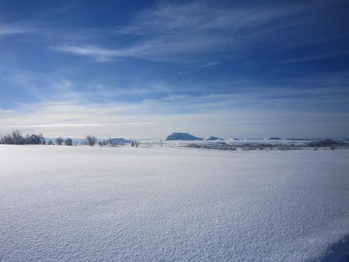 Urørt snø ved Saur