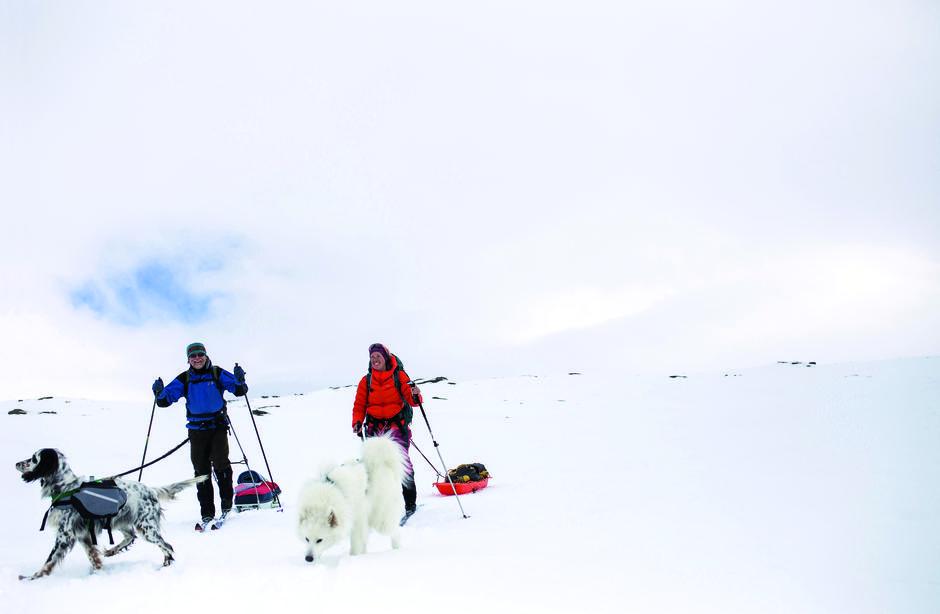 TURDRØM: Endelig får pappa og jeg oppfylt vår felles turdrøm: Vårskitur sammen i Børgefjell.