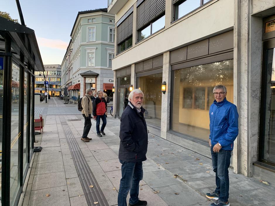 Styret i HHT på befaring nye lokaler i Strandgata.