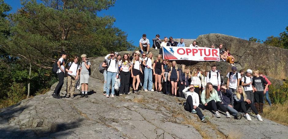 Brunla skole på på Opptur 2021 i Skråvika.