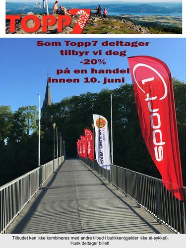 Tilbud til Topp7-deltakere 20% rabatt