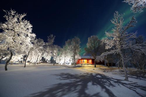 Bjørnhaugen er lett tilgjengelig, og ligger fint til i vinterlandskapet.