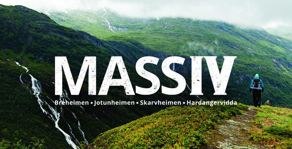MASSIV for mektige fjell og IV for antall fjellområder: Breheimen – Jotunheimen – Skarvheimen – Hardangervidda.