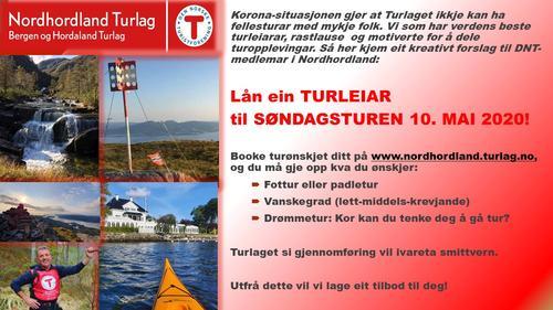 Lån ein TURLEIAR til SØNDAGSTUREN!