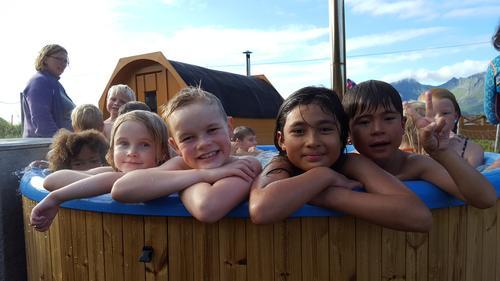 Herlig med bading i varmt vann!
