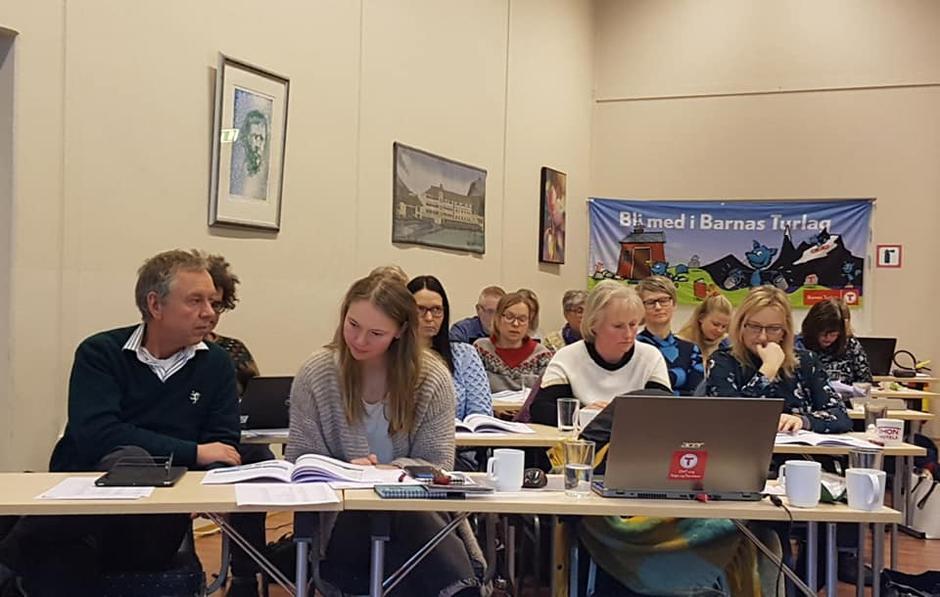 Konsentrerte delegat på årsmøtet.