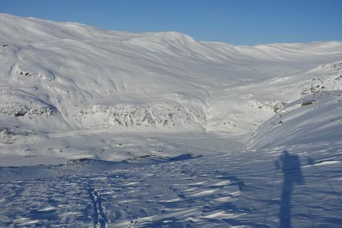 Utsikt over Upsetdalen fra ryggen av Øykjafonn.