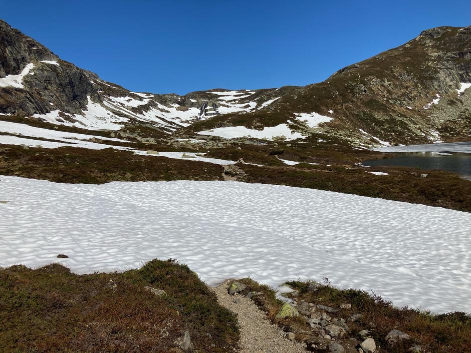 Mot Stavbrokka, bild tatt like sør for Stavskar, 980 m.o.h. 31.5.2021
