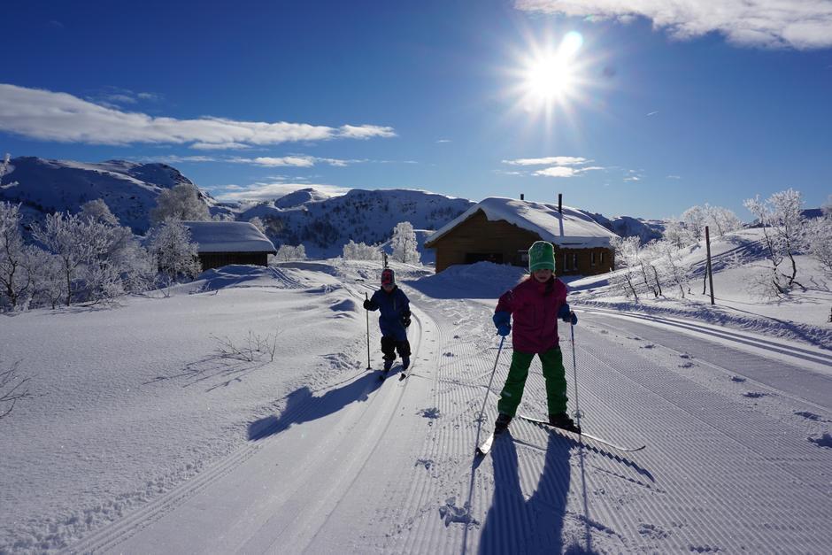 Nykjørt løype ved Kvinen, 19.2.2018