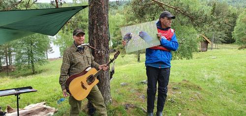 Fra konserten i 2020, Dagfinn Kolberg og Erik Brenden.