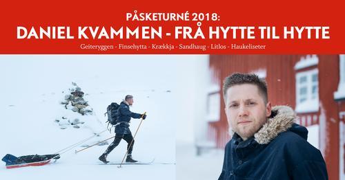 Daniel Kvammen går 20 mil på ski for å spela for DNT-gjestene