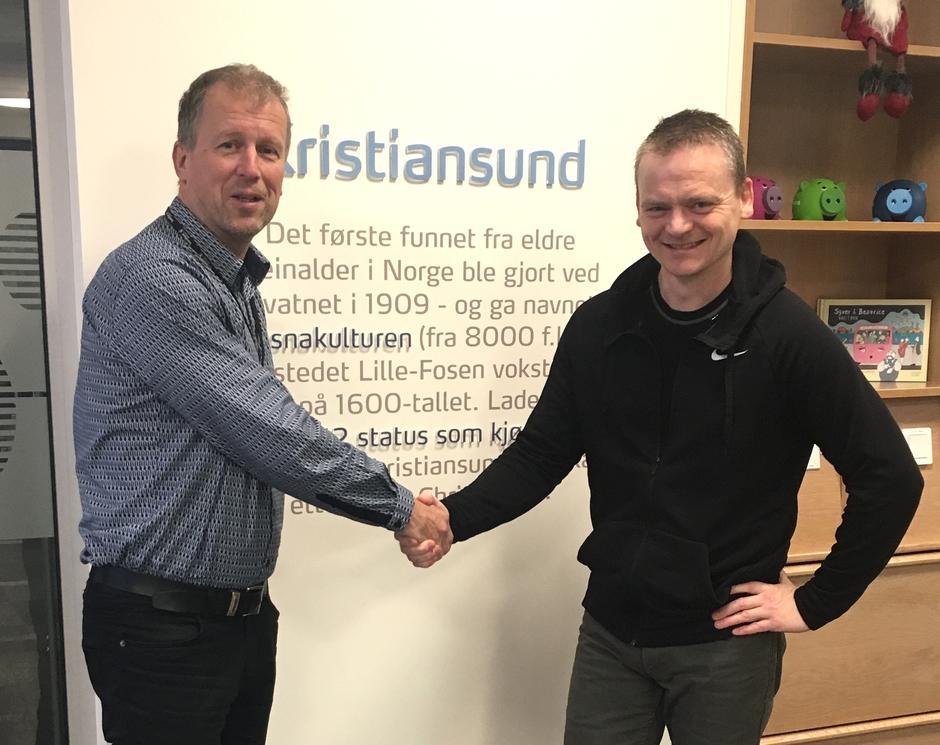 Hans Mellemsæther og Harald Oppedal er fornøyd med ny samarbeidsavtale