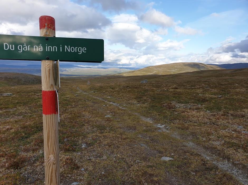 Ruta mellom Rosta og Gappo går gjennom Sverige
