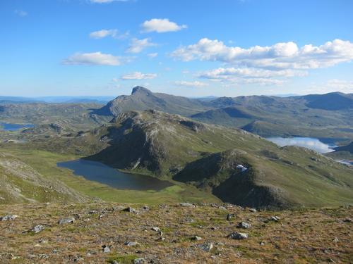 Fra Fagerdalshøene mot Mefjellet