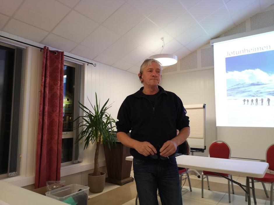 Kjell Kleiven fortalde om påskeskituren i Jotunheimen.