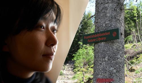 Morgentur til Framtidsbibliotek-skogen med Han Kang 25. mai