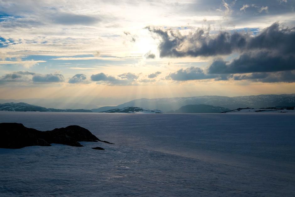 Solnedgang ved Holmaskjer.