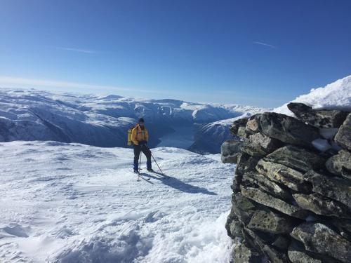 Utsikt fra Vassfjøro (1633 moh)