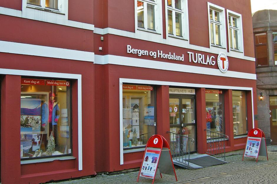 Tverrgaten 4-6 fasade Turlagskontoret i Bergen