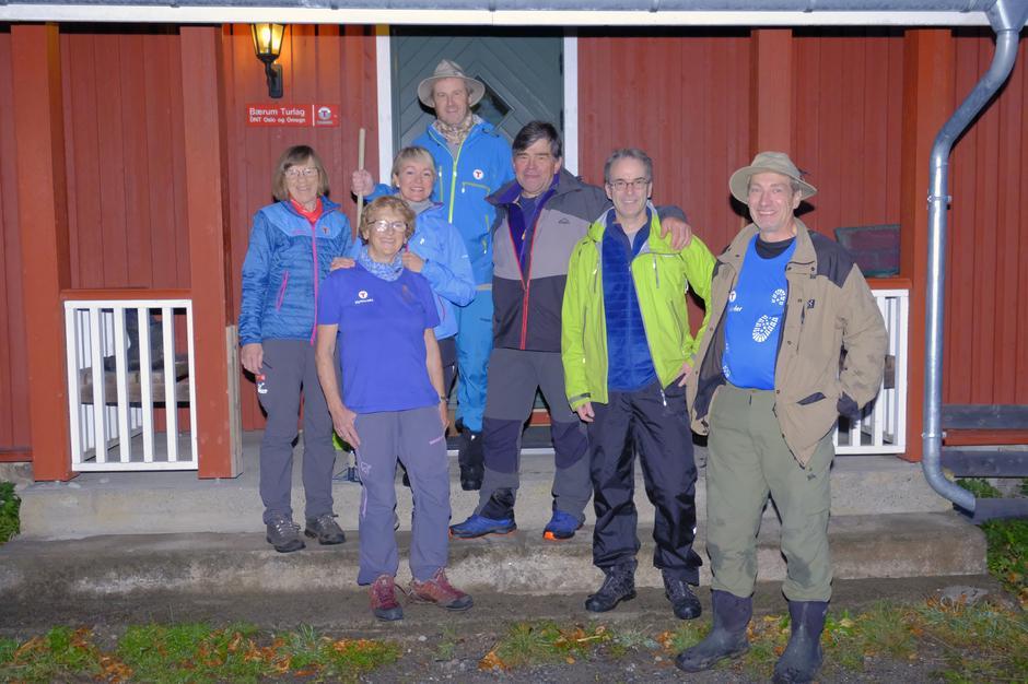Tilsyngruppa på Nedre Gupu. Fra venstre: Marit Torblå Karslen, Sissel Myhra, Kaisa Hafredal, Nils Mathisrud, Arve Hellmann, Jan Olav Langseth og Peter de Besche.