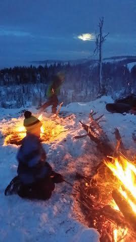 Båltur på Totenåsen 23. januar