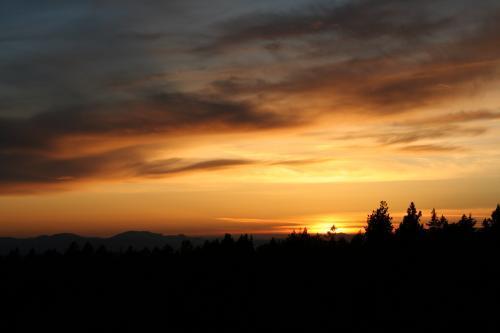 Solnedgang over Skrehelle