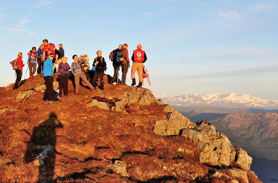 På toppen av Litlenipa (845 moh).