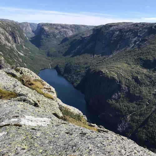 Himraheia - utsikt mot Tengesdalsvatnet