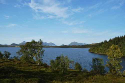 Gåslandsvatnet, det største vatnet i Bø