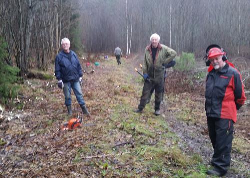 25 km stier ryddet i Fålemarka i 2016!