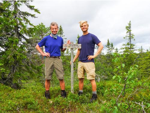 Jan og Eivind Stensnes tok turen i 2015
