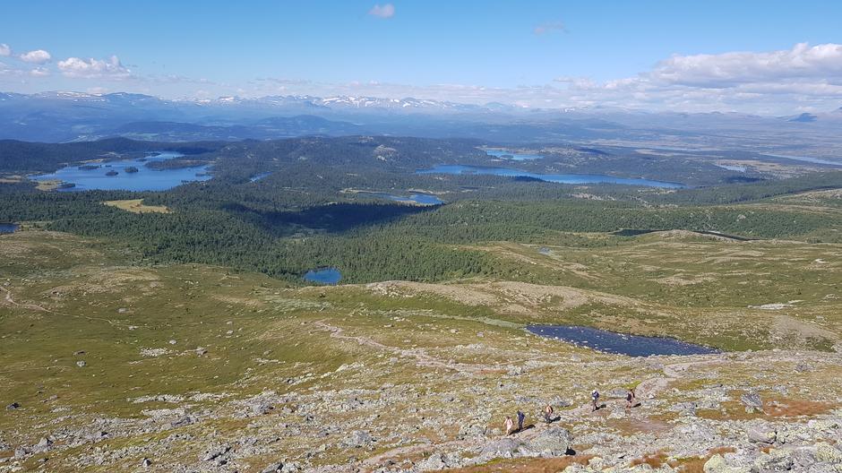 Utsikt fra Rundemellen mot Jotunheimen.