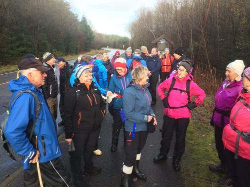 Onsdag 15. november var vi 35 kvinner og menn som på gikk tur på Bjorøy.
