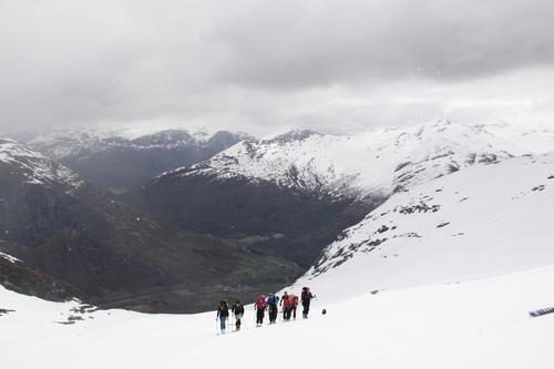 Opp Snødalen mot Kvitegga
