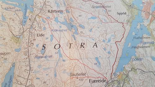Kart over turen vi skal gå
