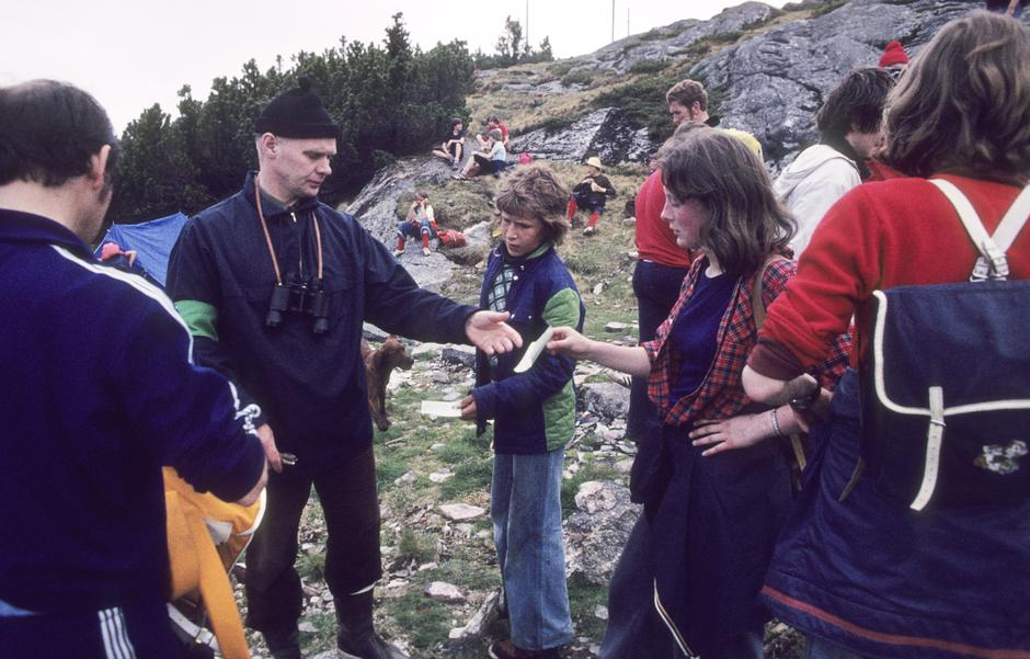 Klippevakt i 1976: Mange glade turdeltakere også den gang.