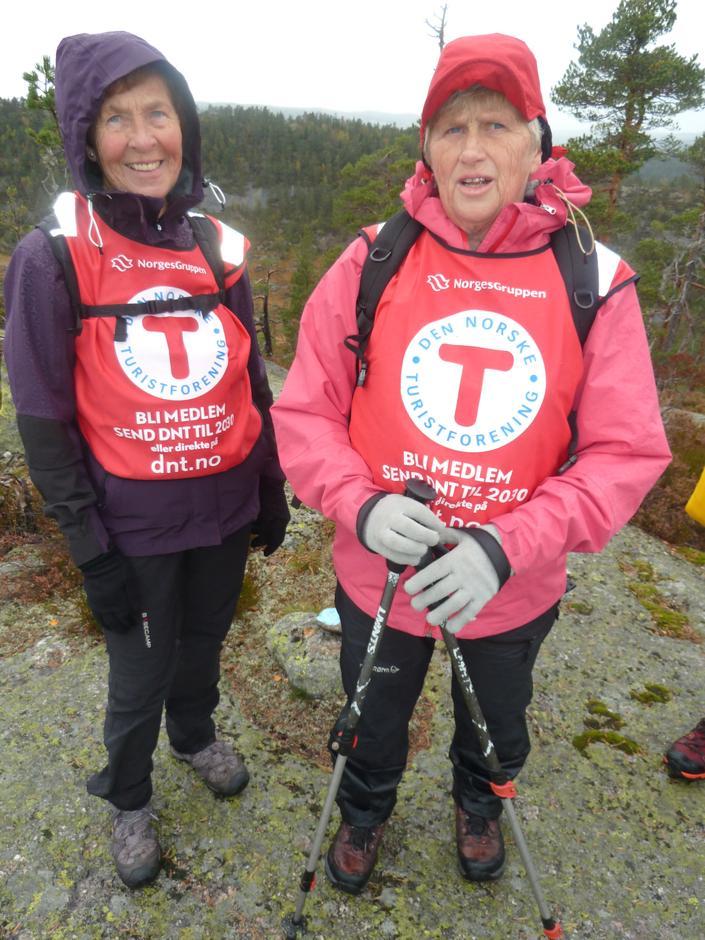 Turleiarane Tordis Brekka og Mary Lie i vinden.