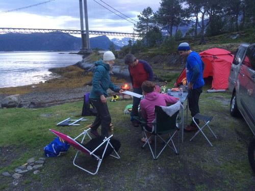 Fra campen ved Kjerringvikstraumen
