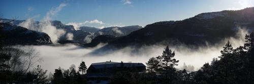 Vinter på Preikestolen fjellstue