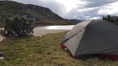 Telting ved Rågeloni i Setesdal Vesthei