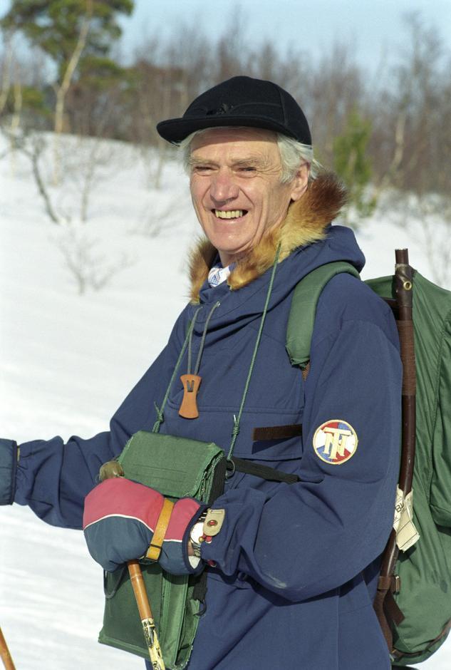 BAUTA: For sin innsats for DNT ble Claus Helberg utnevnt til æresmedlem i 1993.