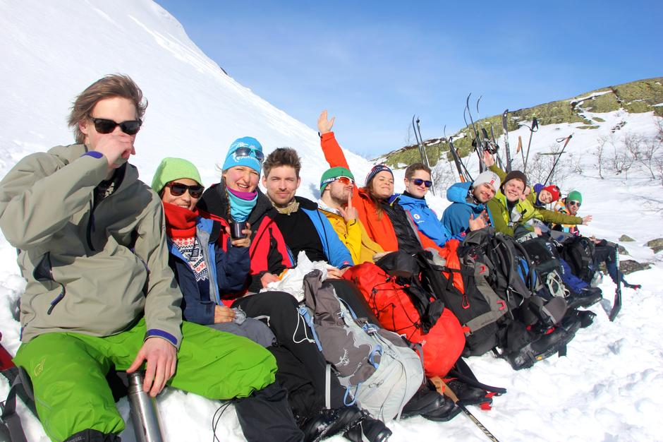 Skitur ved Rjukan. DNT ung Oslos vintersamling og årsmøte 2015