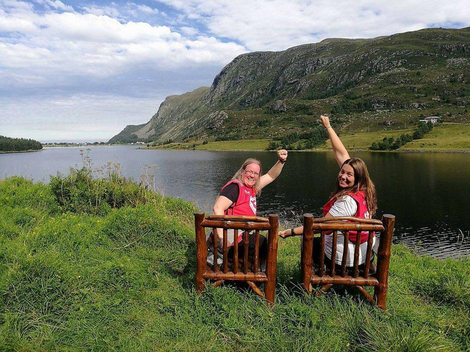 Glade turleiarar- Wenche og Helene