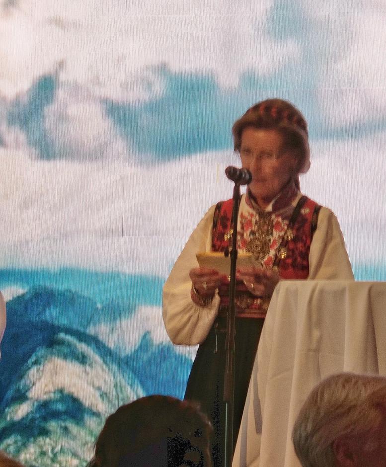 Dronning Sonja taler under landsmøte middagen