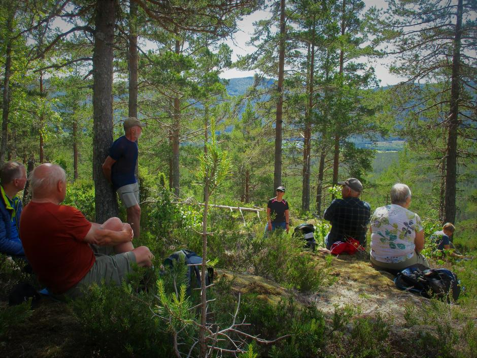 Utsikt mot Holleia og Axel Holt forteller.