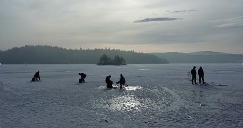 På isfiske med Klart det går