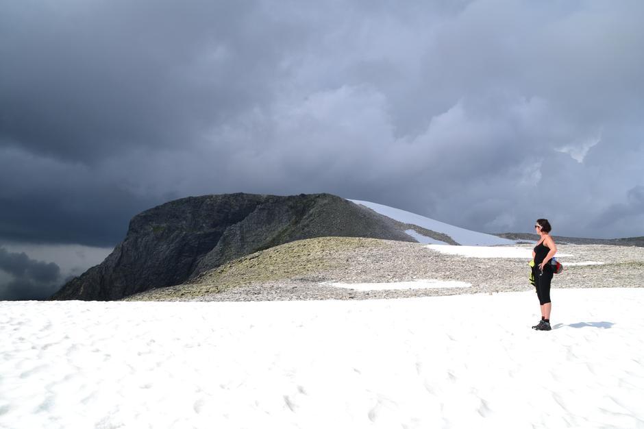 Frå snøbreen før toppen.