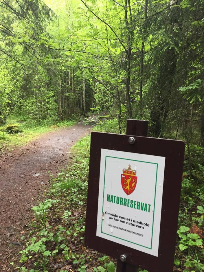 Møter du dette skiltet på tur, er du på vei inn i et område som er vernet pga. fugleliv, sjeldne planter eller annen sårbar og sjelden natur. Her gjelder egne regler som gjør at du må ta ekstra hensyn til naturen.